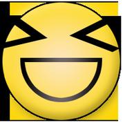 stark freuender Smiley