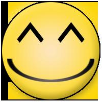 zufriedener Smiley