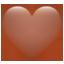 Braunes Herz Whatsapp U+1F90E