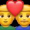 Männliches Paar mit Herz U+1F468