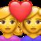 Weibliches Paar mit Herz Emoji U+1F469