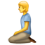 Kniendes Emoji U+1F9CE