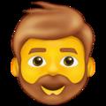 Bärtiger Mann Whatsapp U+1F9D4