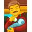 Mann füttert Baby Emoji U+1F468 U+1F37C