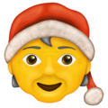 Person mit Weihnachtsmütze U+1F9D1 U+1F384
