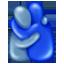 Umarmung Emoji U+1FAC2