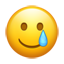 Lächelndes Gesicht Träne Emoji U+1F972