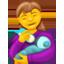 Flasche geben Emoji U+1F469 U+1F37C