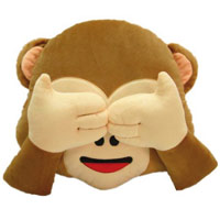 Whatsapp Affe mit Händen auf den Augen als Kissen