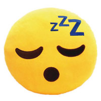 Polster und Kissen - Whatsapp Emoticon ist müde