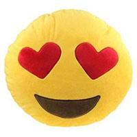 Smiley Kissen mit Herzaugen