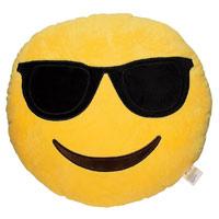 Smiley Kissen mit Sonnenbrille