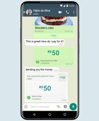 Bezahlfunktion bei WhatsApp in Brasilien