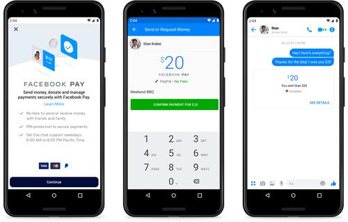 Bezahldienst Facebook Pay